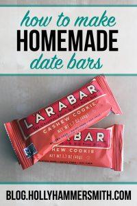 Homemade Date Bars
