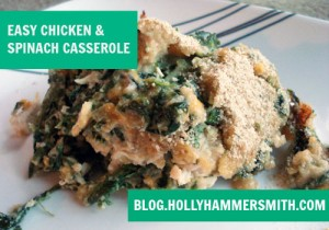 Easy Chicken and Spinach Casserole
