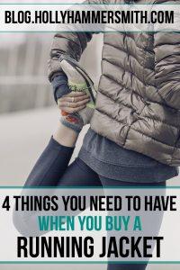 selecting a running jacket