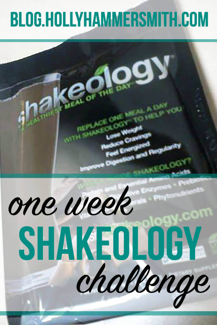 A Seven Day Shakeology Challenge