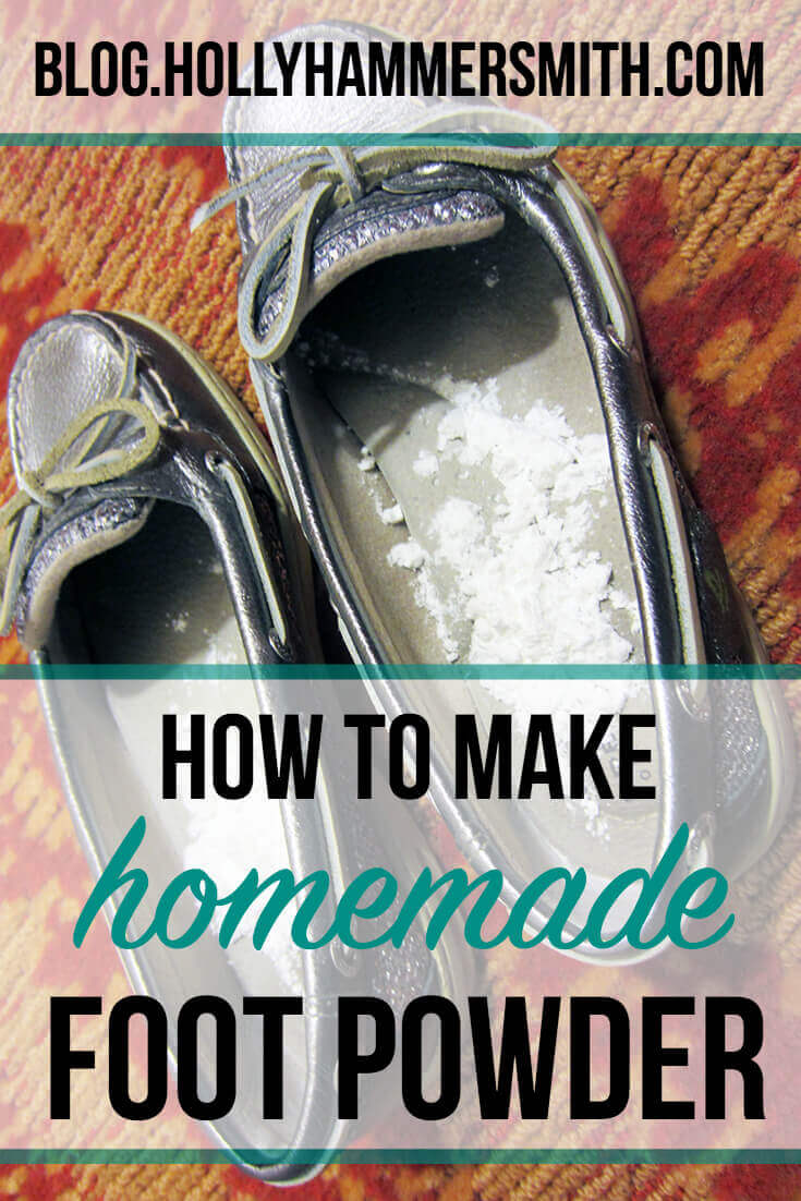 How to Make Homemade Foot Powder