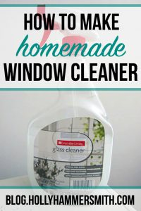 How to Make Homemade Window Cleaner