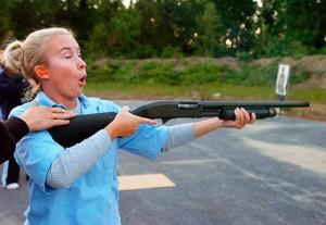 shooting a shotgun