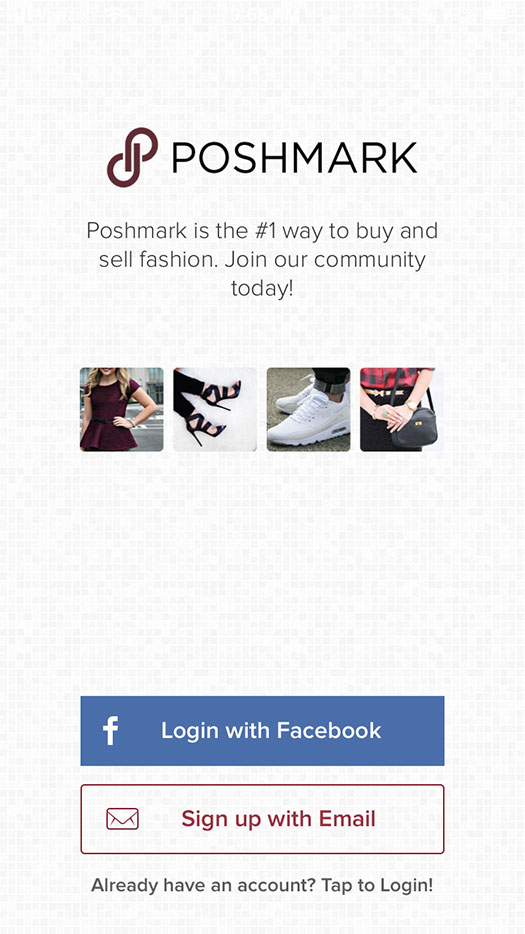 Sign up for Poshmark
